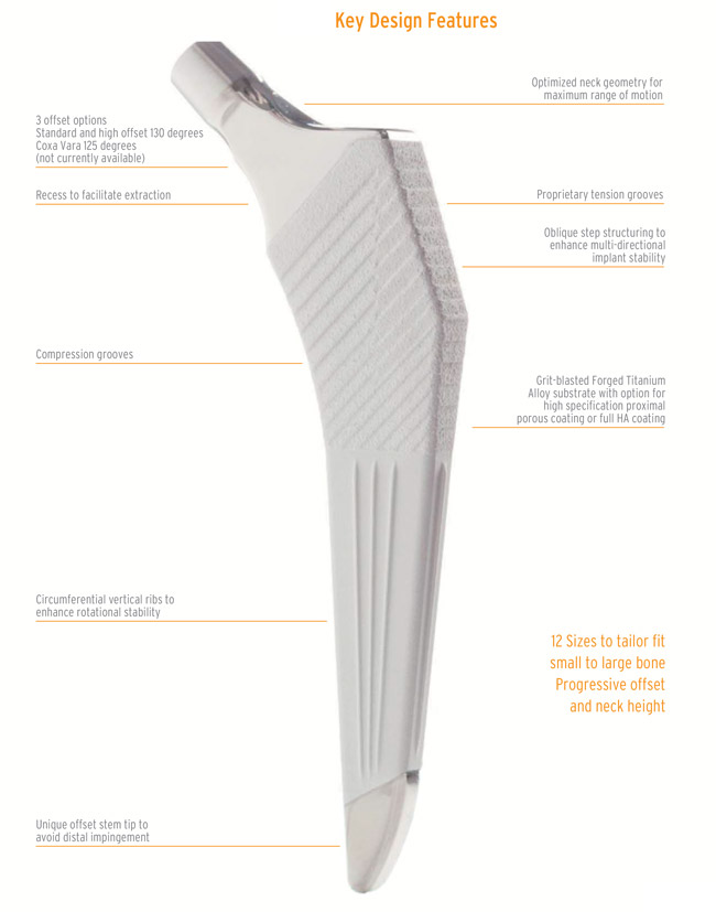 Covision introduces its new femoral stem- Paragon